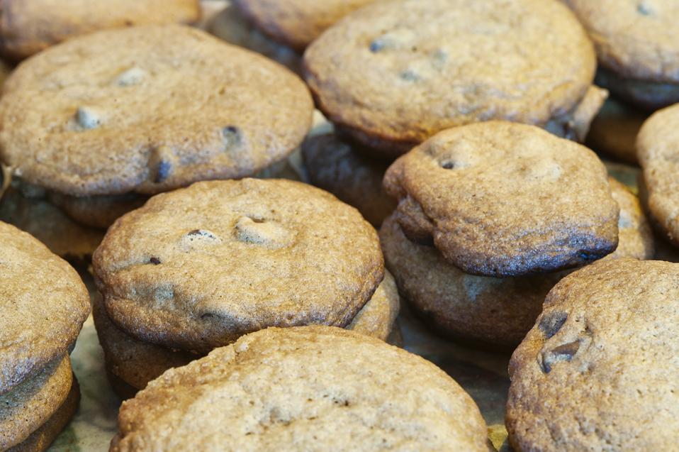 Freshly baked Christmas cookies...