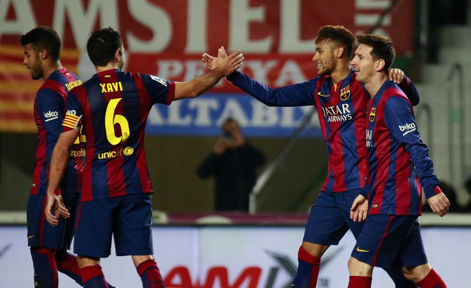 Xavi, Messi and Neymar were once teammates for FC Barcelona.