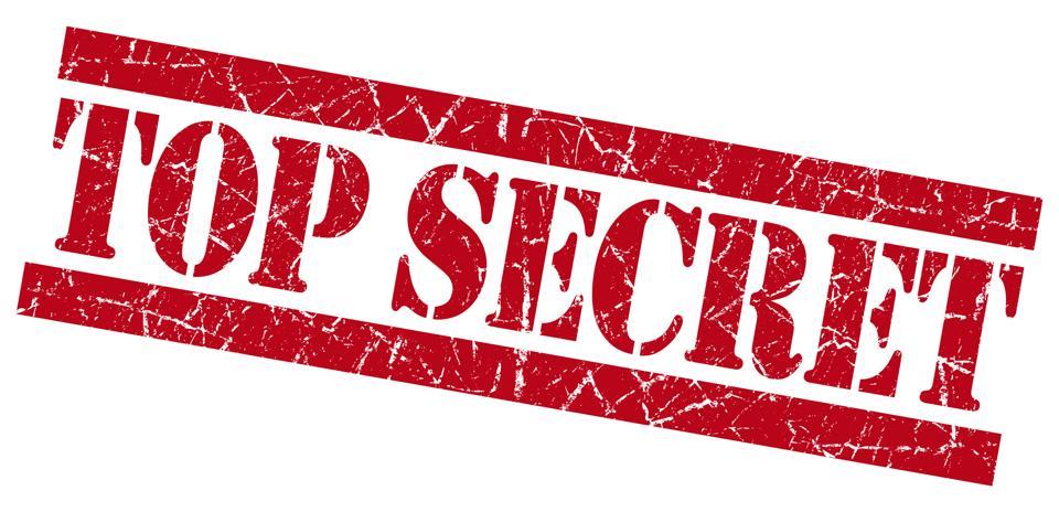 Top secret red grunge stamp