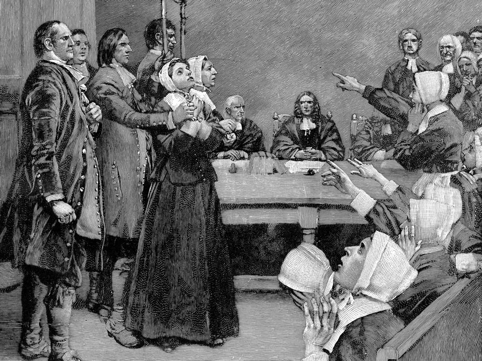TheTrial of a Witch, America, (17th century), 1882.