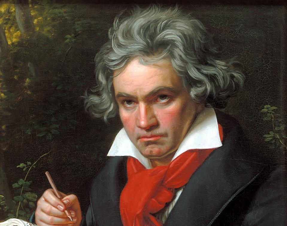 Portrait Ludwig van Beethoven when composing the Missa Solemnis', 1820.