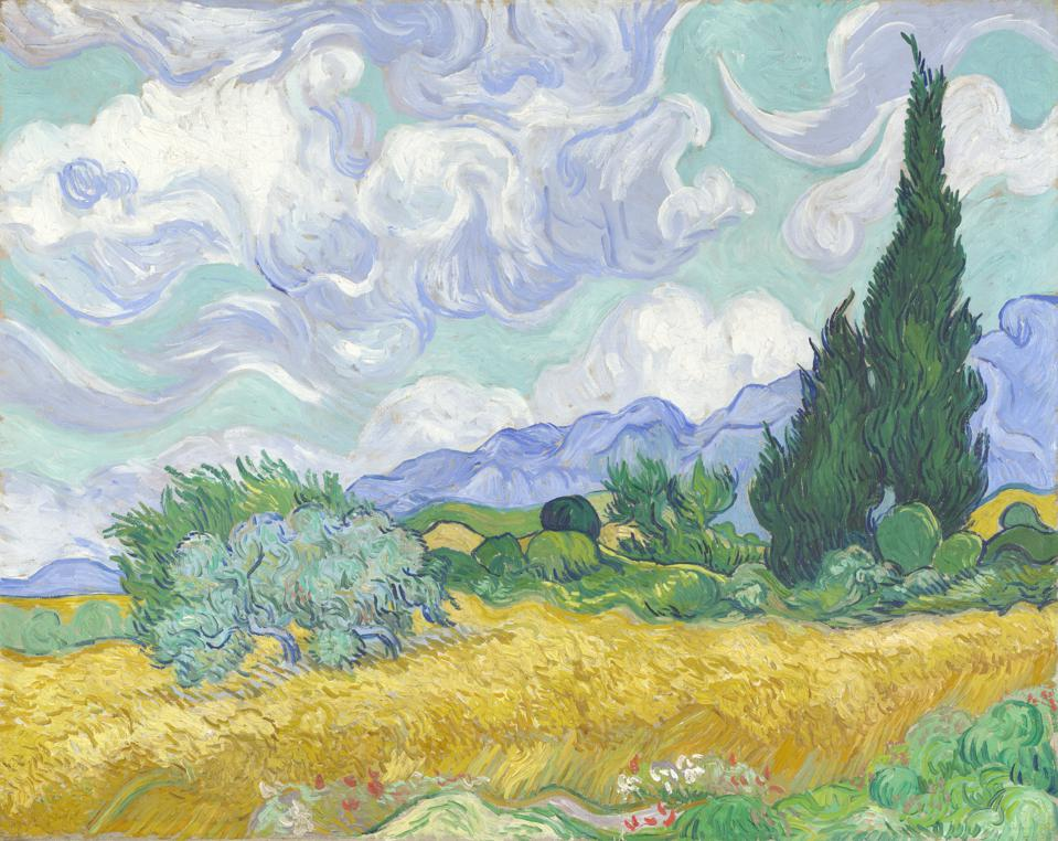 A Wheatfield, with Cypresses, 1889. Artist: Gogh, Vincent, van (1853-1890)