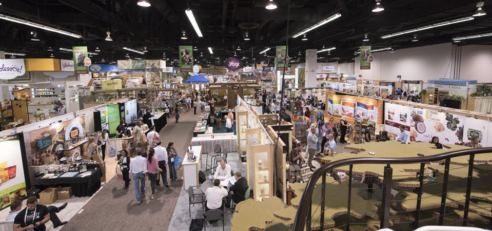 The show floor at New Hope Network's annual Expo West in Anaheim spans multiple hotels and stadiums.