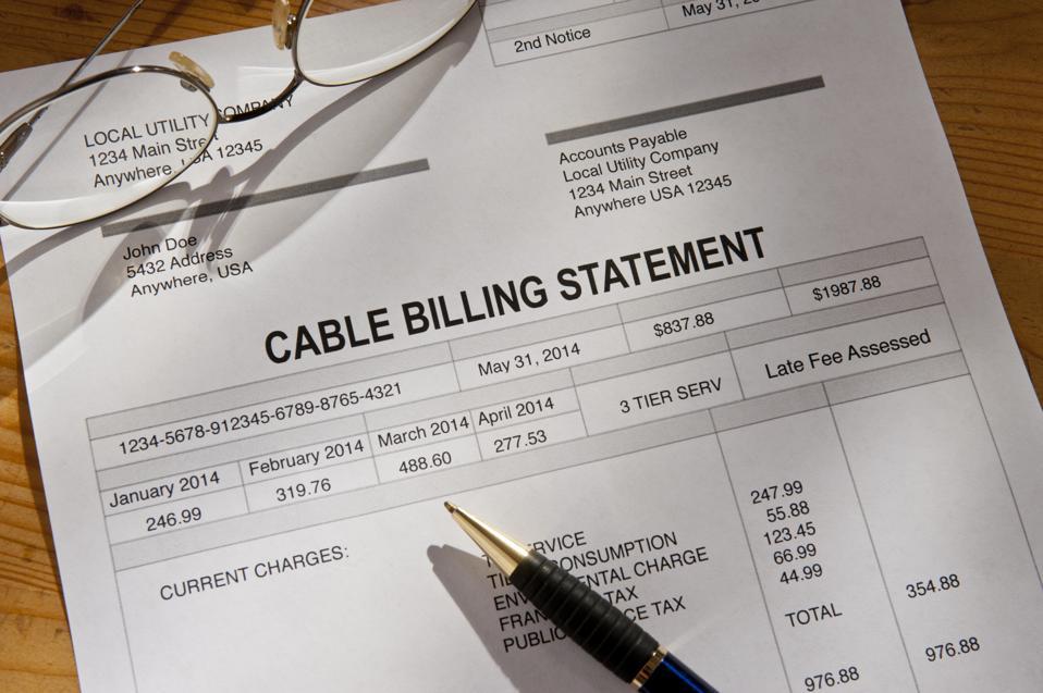 Cable Service Bill Invoice