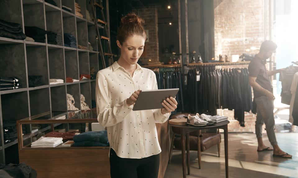 Working in-store and online