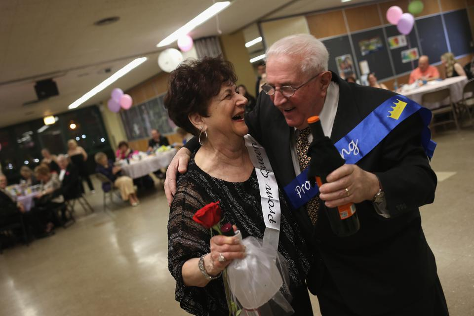 Elderly Staten Island Residents Mingle At ″Senior Prom″
