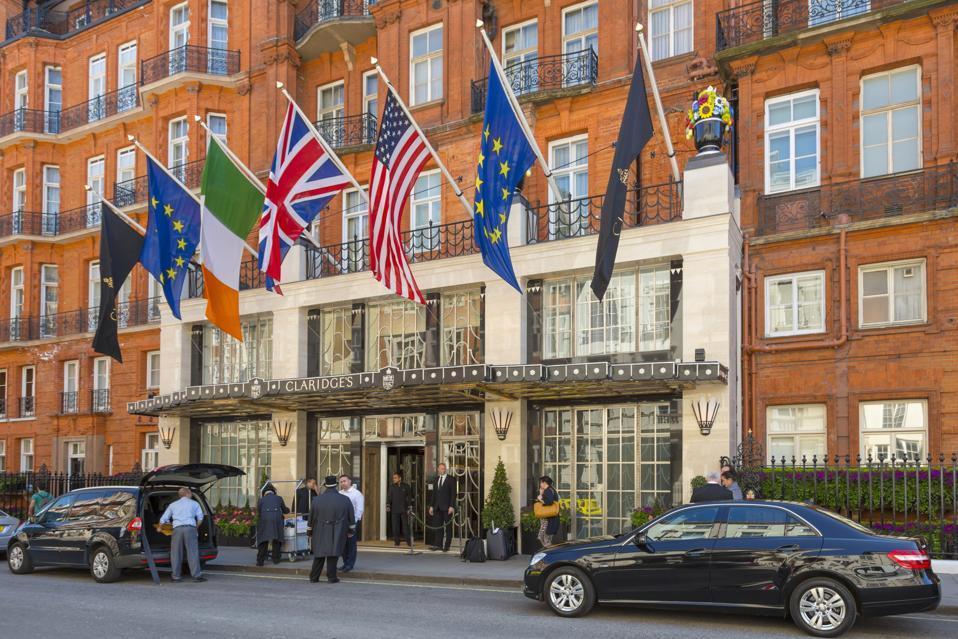 Claridges Hotel in London's Mayfair barclay brothers