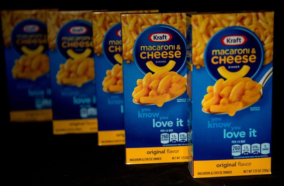 Kraft macaroni & cheese is a bestseller for Kraft-Heinz