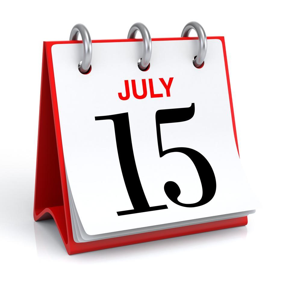 July 15, tax deadline, estimated tax, tax day