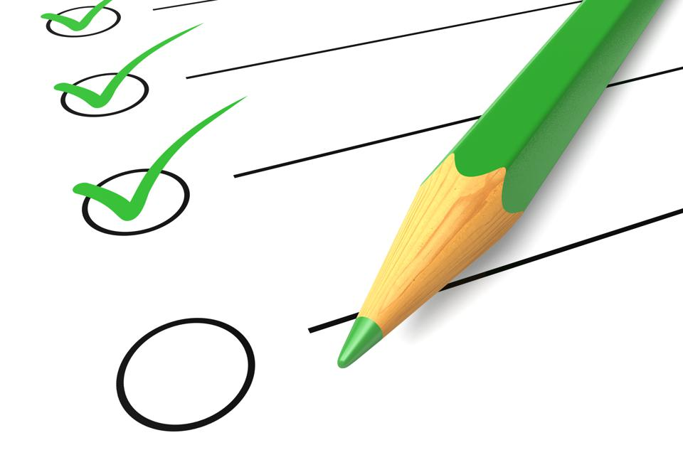 Checklist green pencil