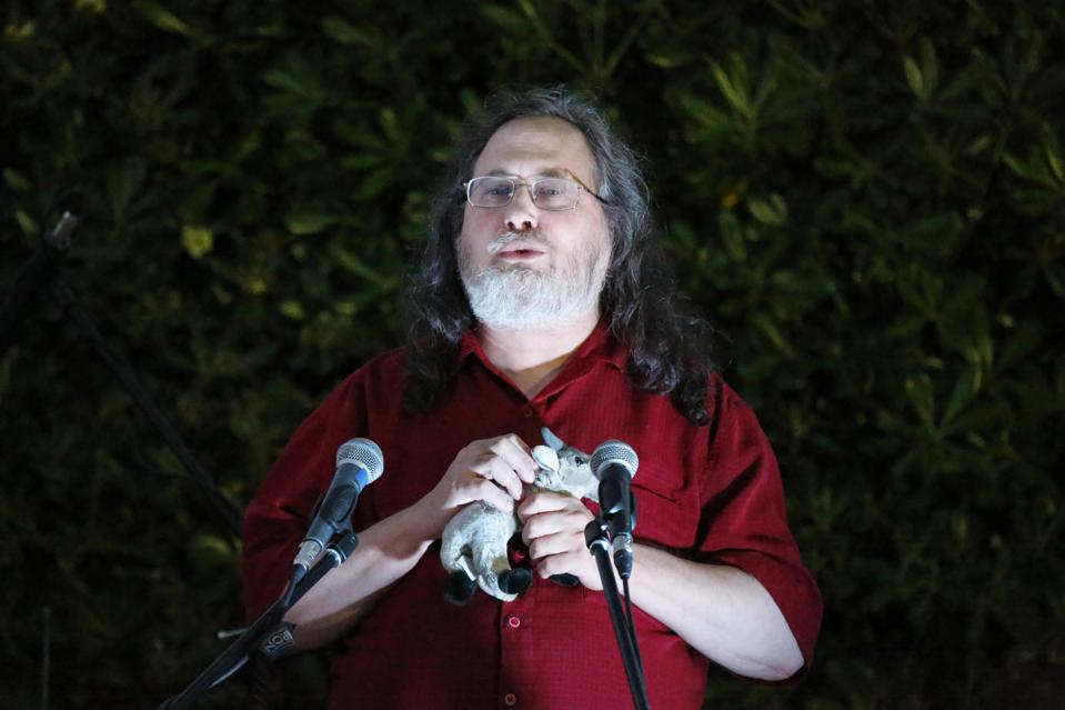Richard Stallman speaks at the Commons Fest 2015. Richard...
