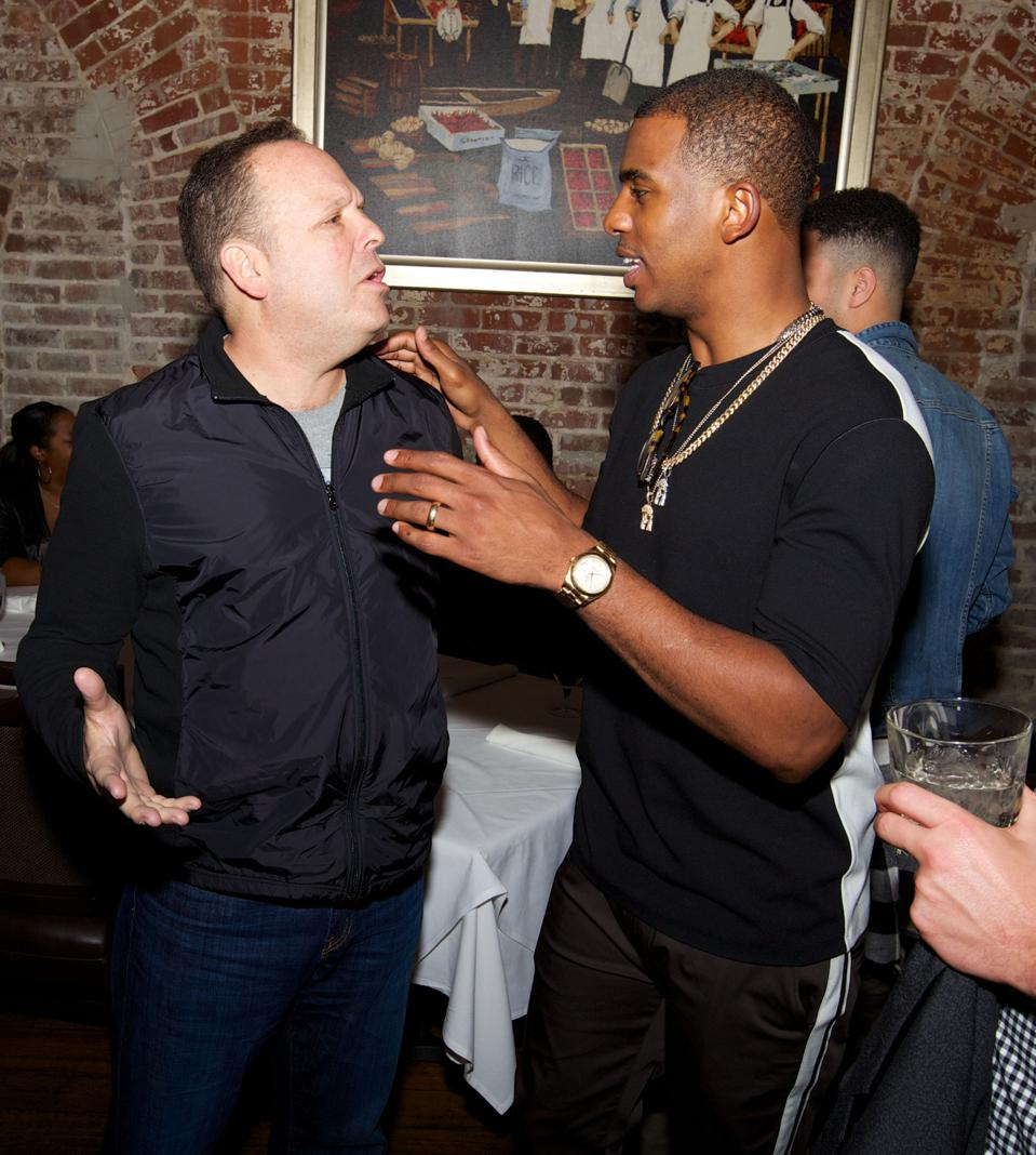 Dwayne Wade Attends NBA All-Star Weekend 2014 - Day 2