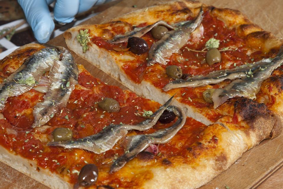 sardenaira, pizza