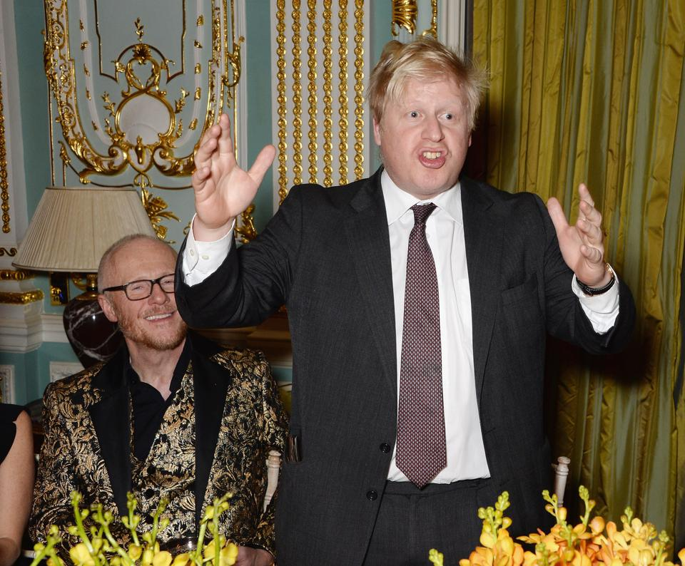 John Caudwell Hosts A Dinner For The Olympic Legacy Attended By Mayor Of London Boris Johnson