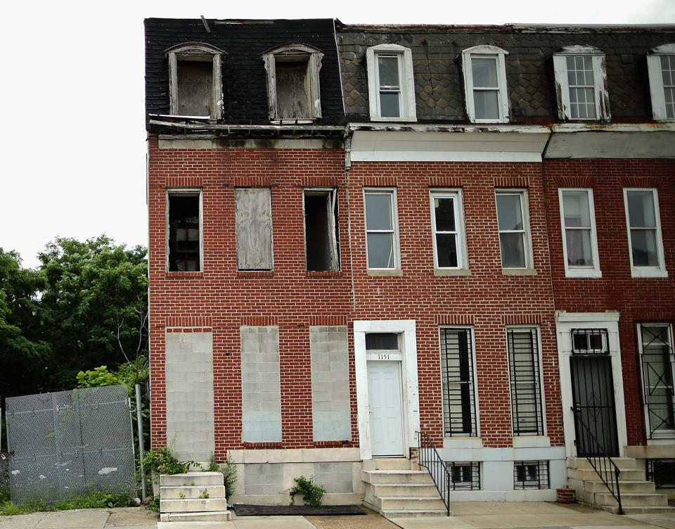 Baltimore city, abandoned rowhouse