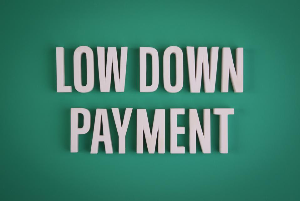 Low Down Payment sign lettering