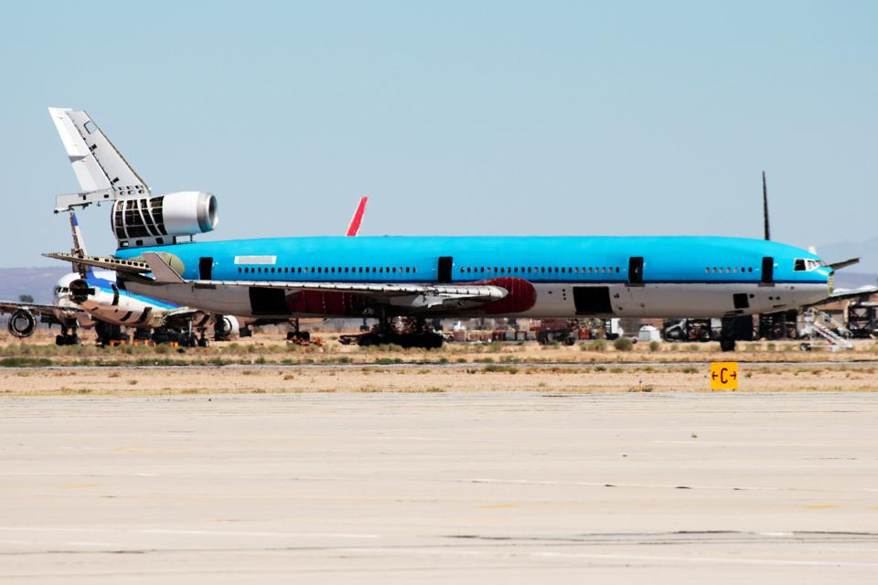 Scrapped MD-11 aircraft at Southern California Logistics Airport