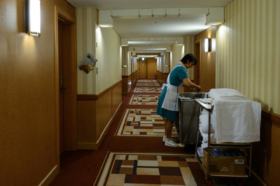Cleaning hotel room to prevent coronavirus