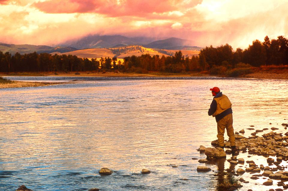 Damon Fishing on the Big Blackfoot River in Montana