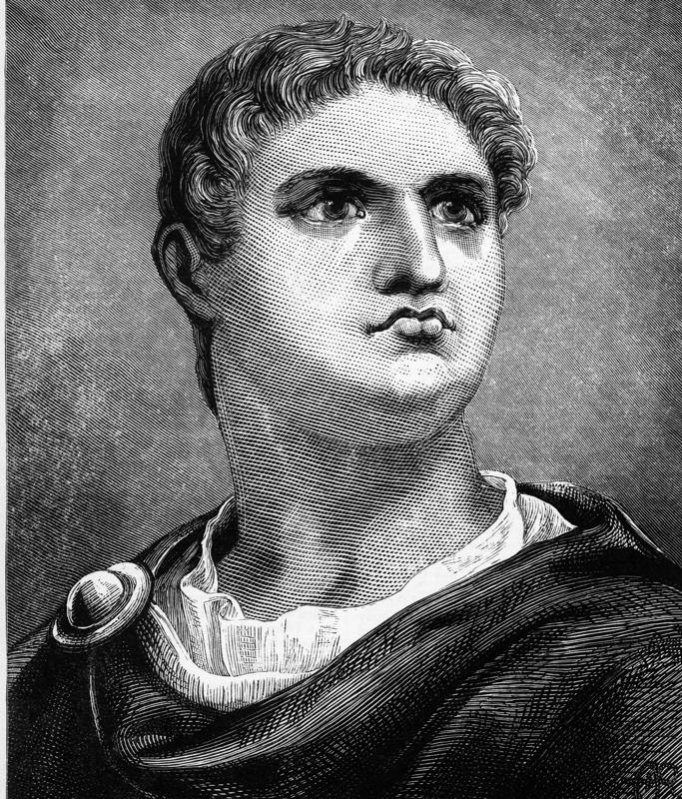 Nero, 37-68 A.D. Engraving