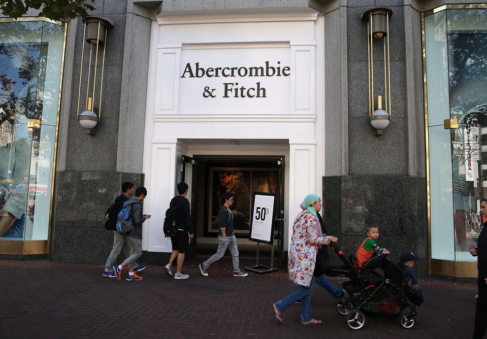 Abercrombie And Fitch shares slumped 25% on Wednesday.
