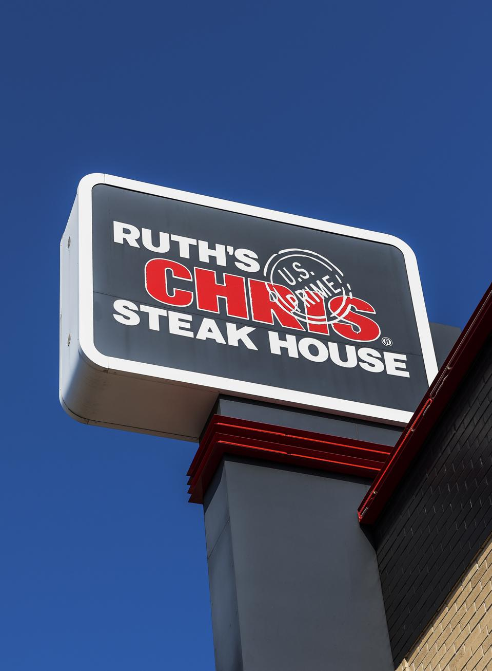 Ruth's Chris Steak House, sign and logo...