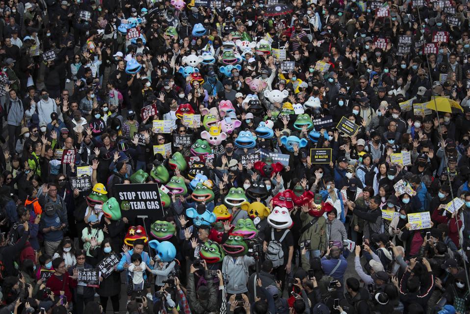APTOPIX Hongkong Protesty