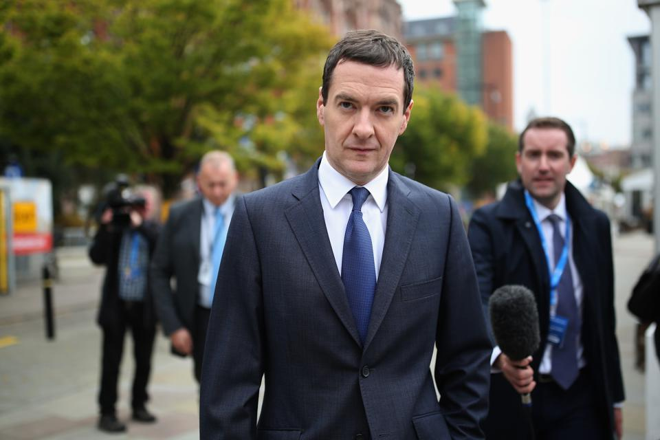 Former Chancellor of Exchequer George Osborne Arrives At Conservative Party Conference