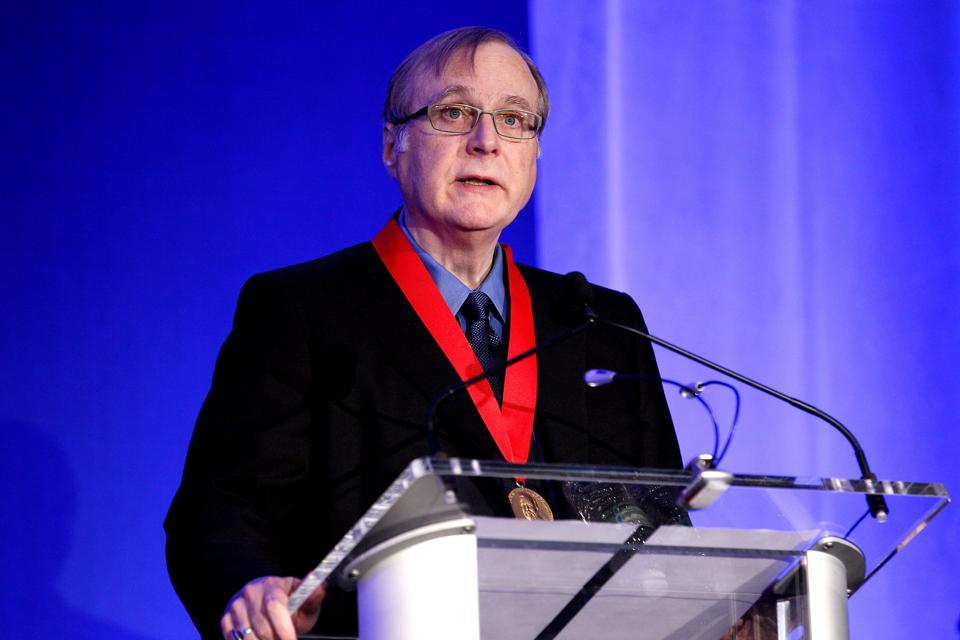 Paul Allen at the 2015 Carnegie Medal Of Philanthropy award ceremony.