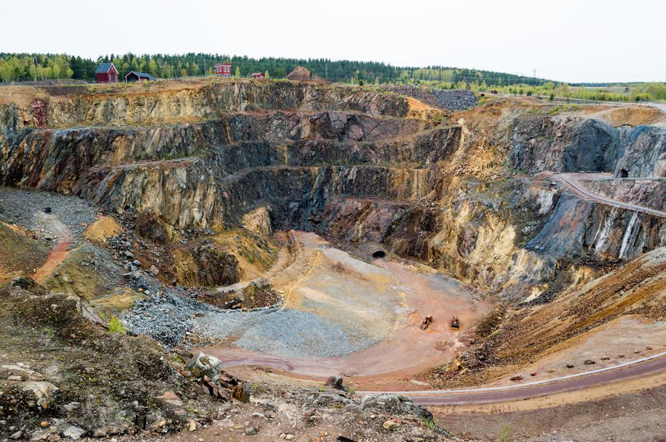 Copper mining pit, Falun, Sweden