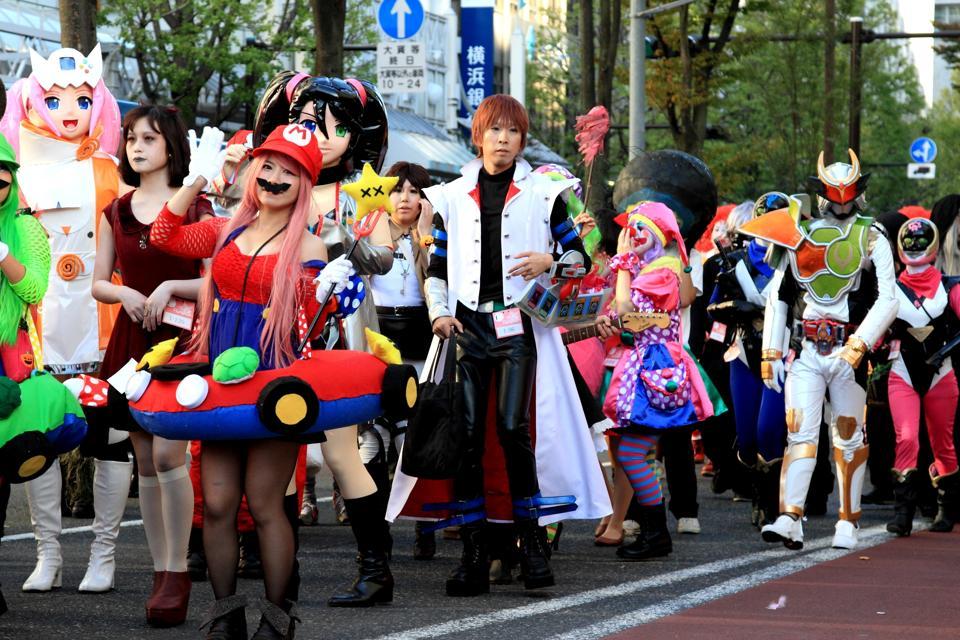 People Dress Up For Halloween Parade In Japan Kawasaki Halloween Parade,