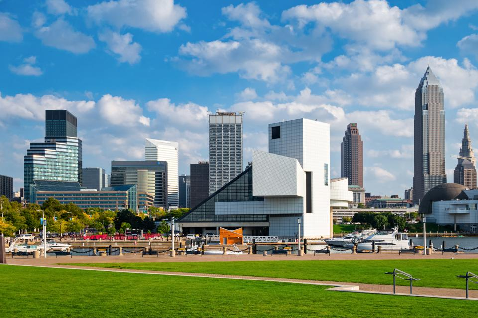 Cleveland Ohio USA Skyline