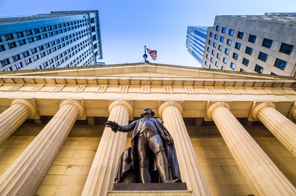 Facade of the Federal Hall Wall Street