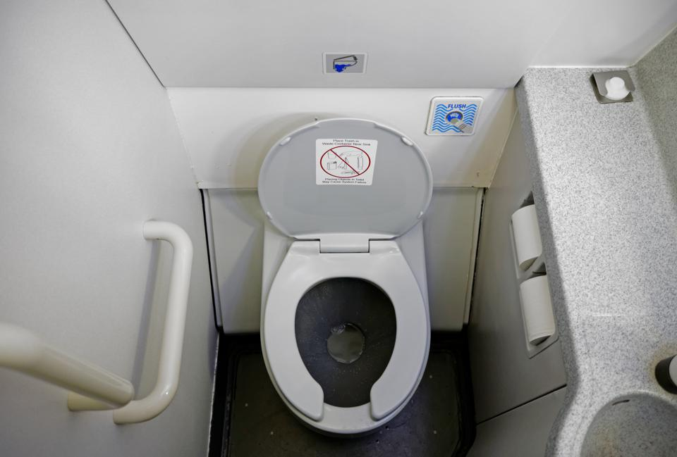 Airplane Bathroom Toilet