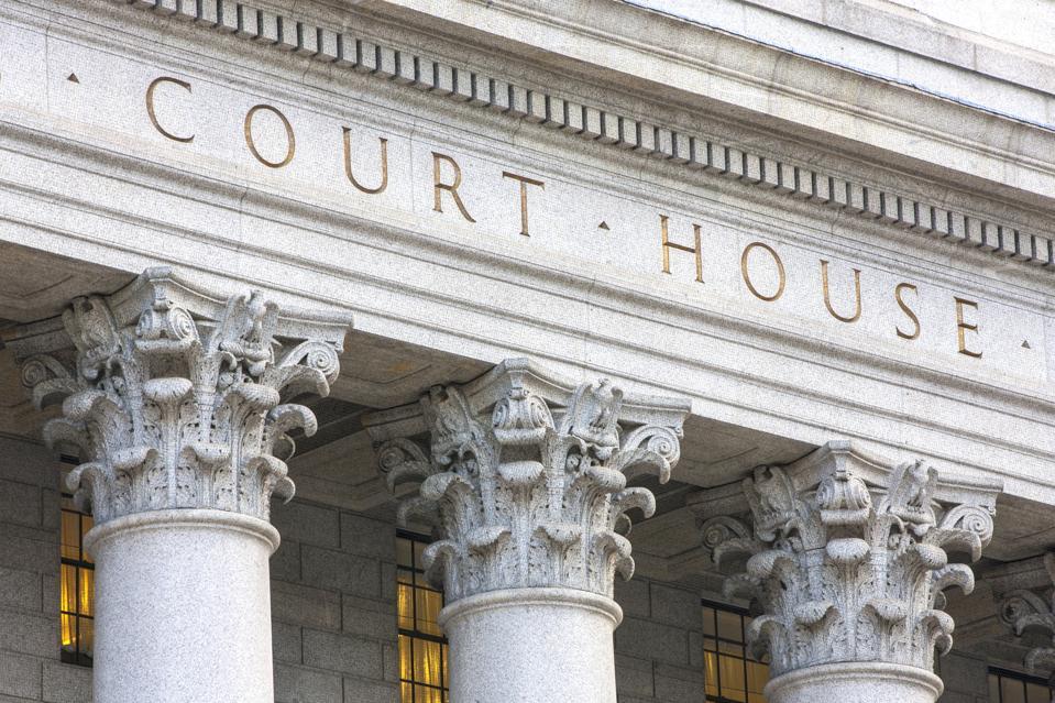Courthouse facade.