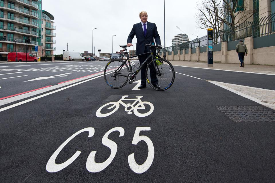 Boris Johnson Launches London's First Cycle Superhighway