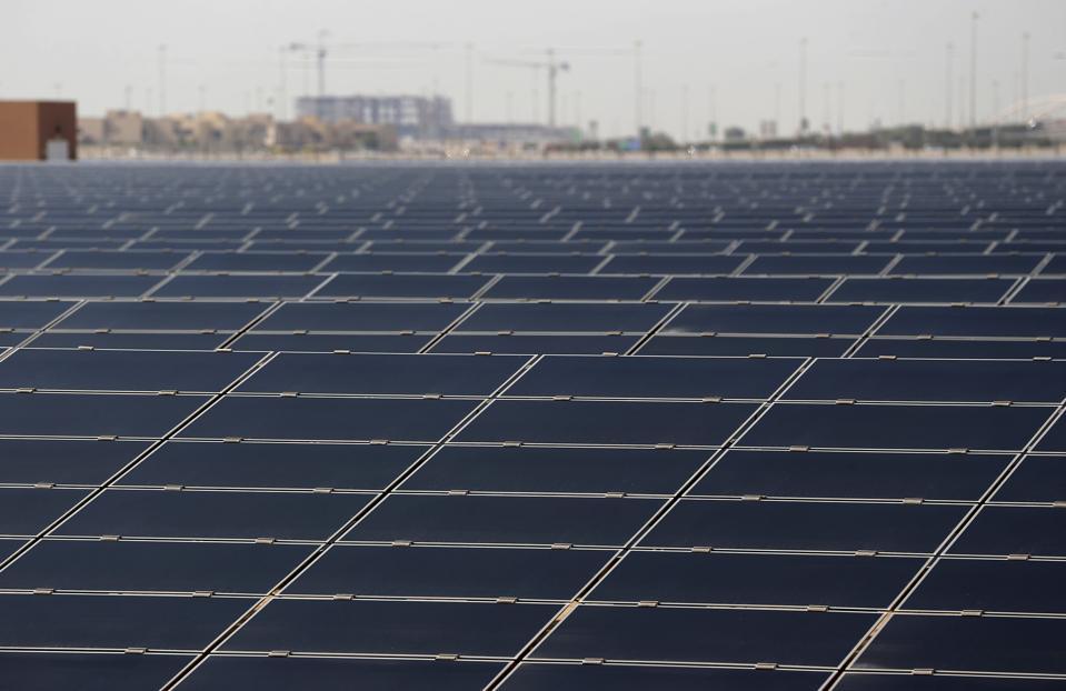 A solar PV plant at Masdar City in Abu Dhabi, UAE
