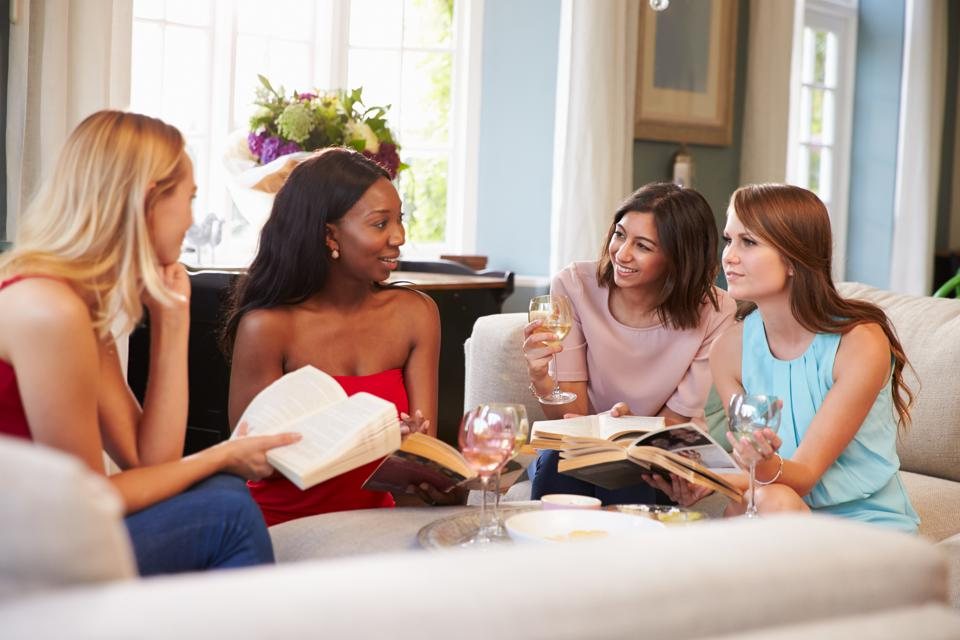 Group Of Female Friends Taking Part In Book Club