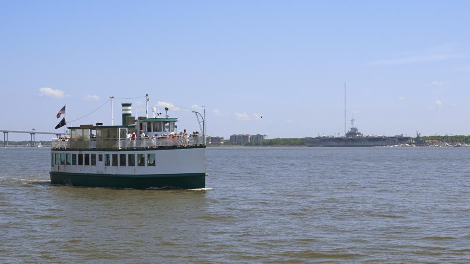 Sightseeing boat in Charleston harbor
