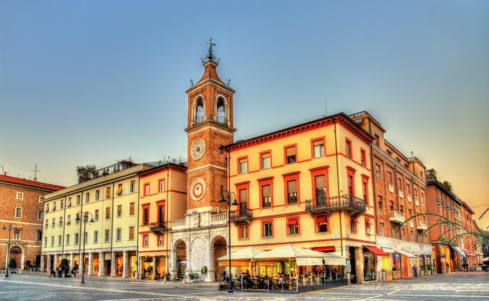 Tre Martiri Square in Rimini - Italy