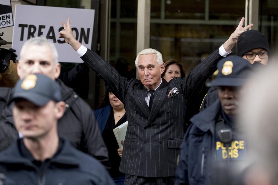 Roger Stone leaves Washington's federal court February 1.