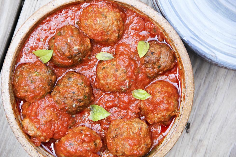 Food Healthy Lightened Up Meatballs