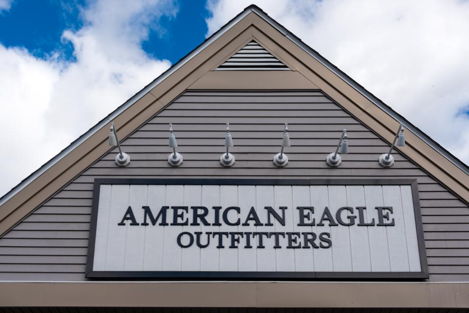 American Eagle Outfitters store in New York, USA with its...