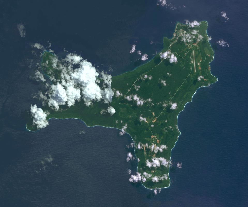 DigitalGlobe overview image Christmas Island, Australia.