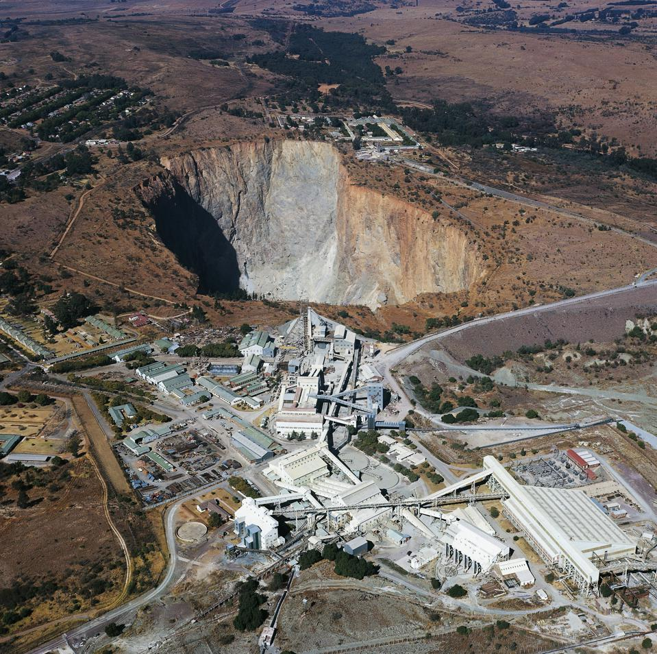 Open pit diamond mine, Pretoria, South Africa...