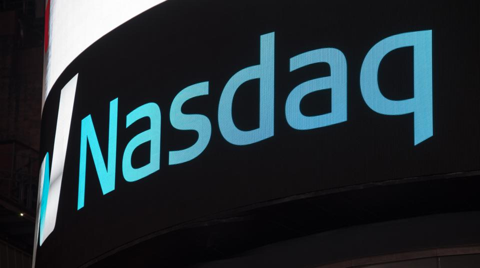 Outside Nasdaq's offices in New York City.