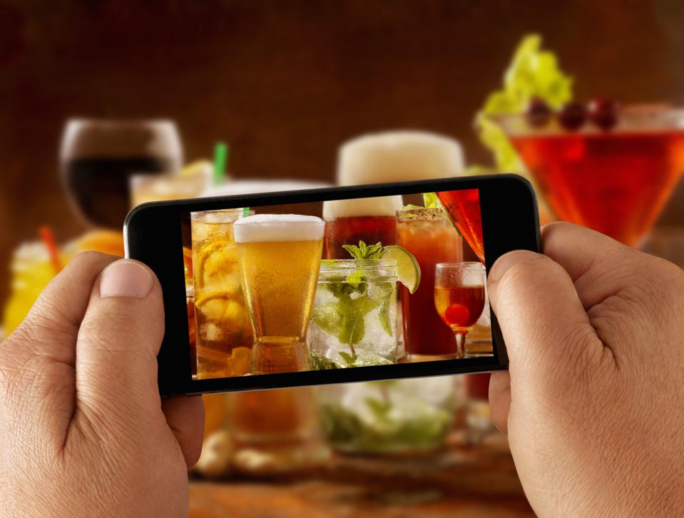 Mobile Photography of cocktails