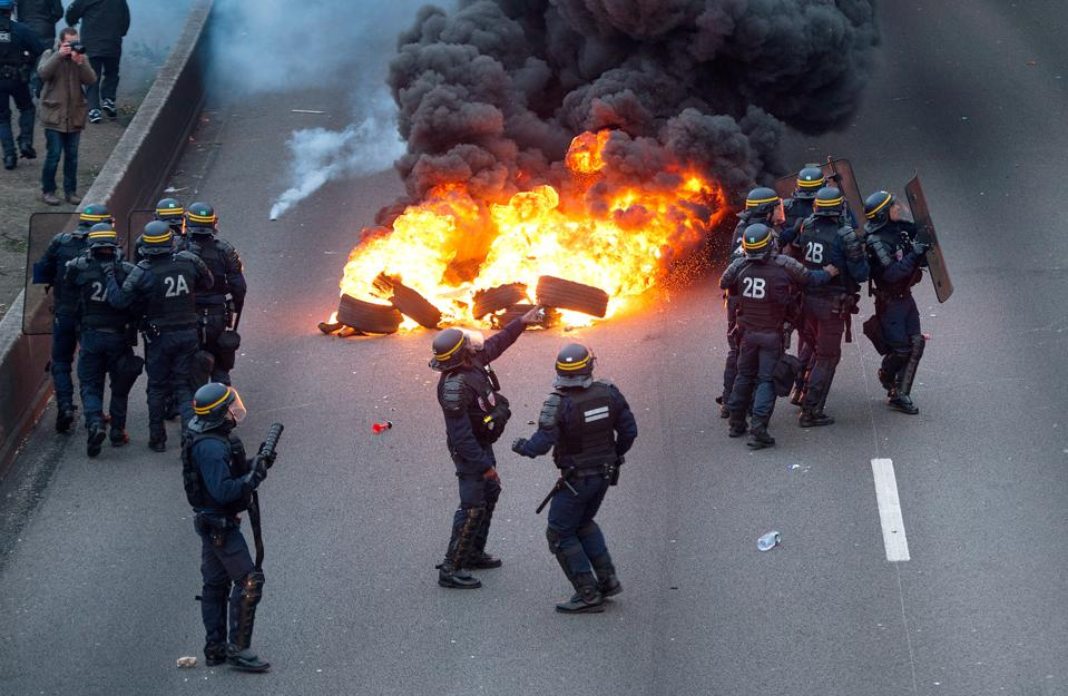 French Taxis Drivers Demonstrate Against Uber In Paris