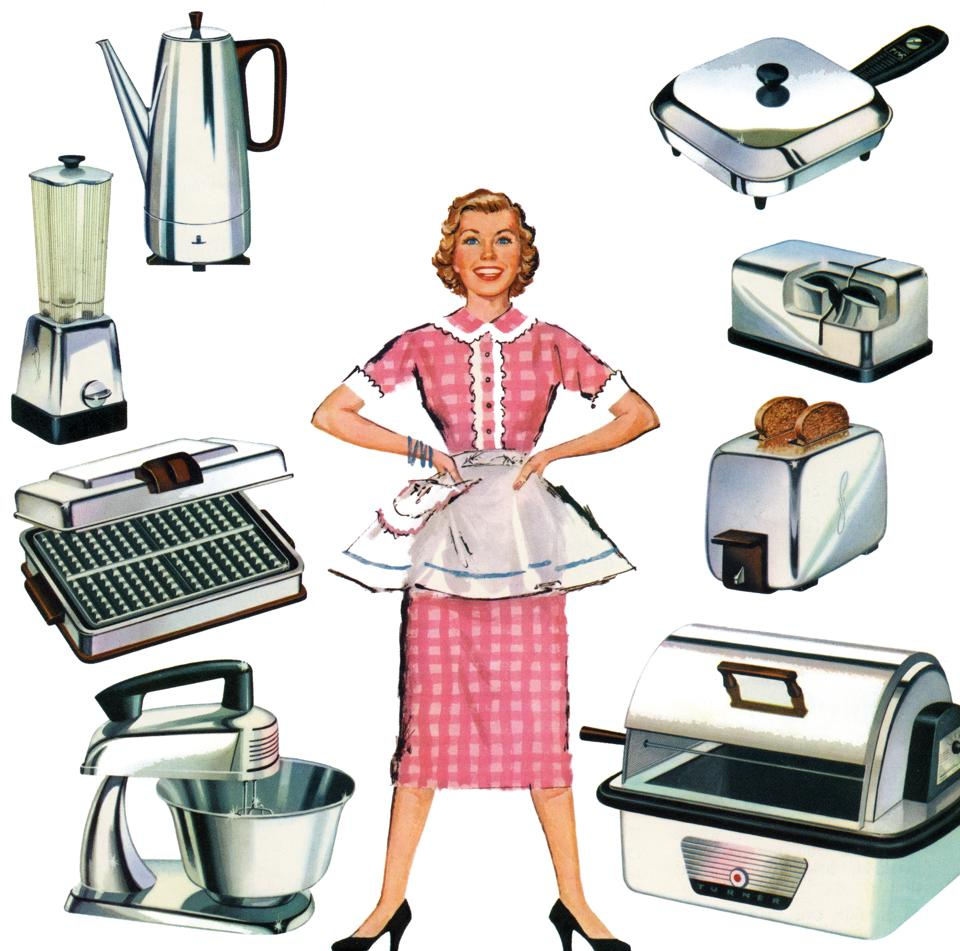 Woman With Kitchen Appliances