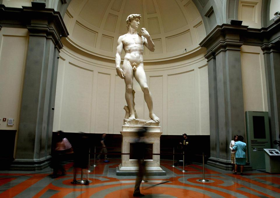 Michelangelo's famous marble statue of David
